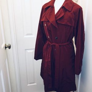 New York & Company Jackets & Coats - New York & company red double breasted trench